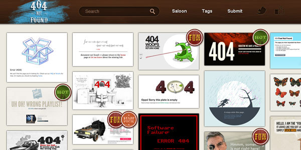 The best 404 pages on the web! | 404 not found