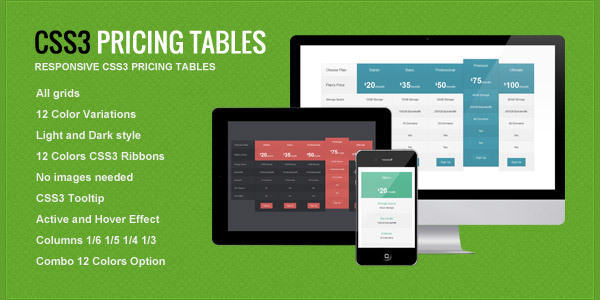 responsive-css3-pricing-tables