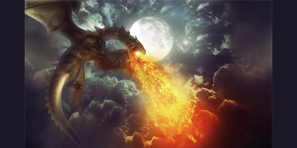 Un-Dragon-Cracheur-de-Feu-avec-Photoshop
