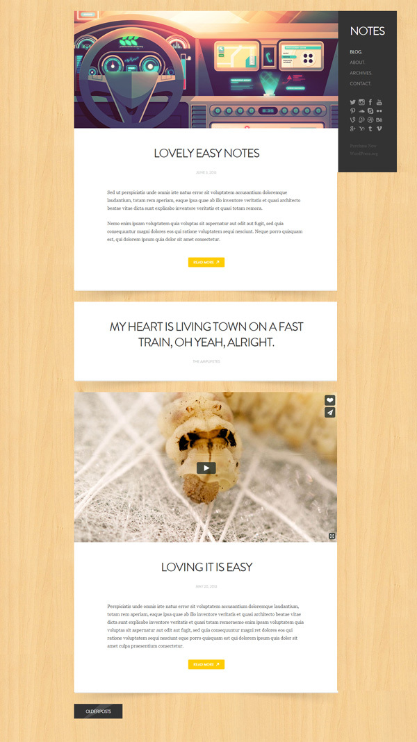 notes-personal-wordpress-theme