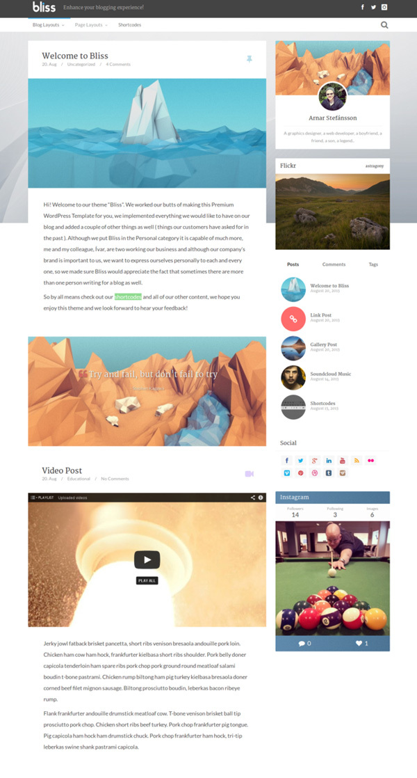bliss-personal-minimalist-wordpress-blog-theme