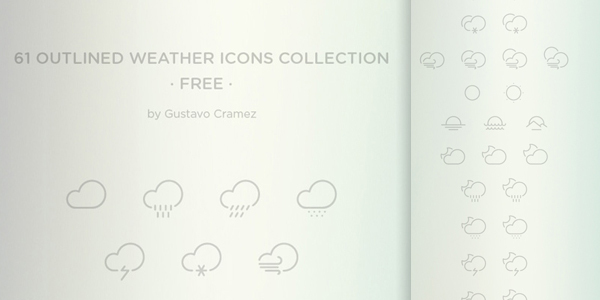 free-outlined-weather-icons