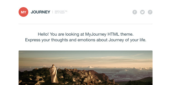 myjourney-free-psdhtml-template