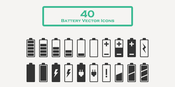 Free-download-40-battery-vector-icons