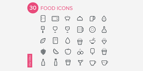 30-Foods-Icons-Free-Icon-Set