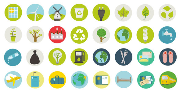 freebie-travel-ecology-icon-set