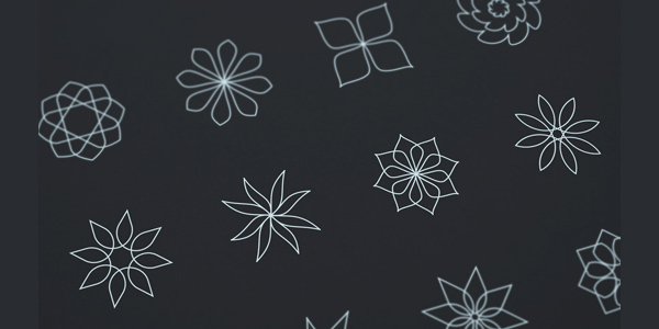 abstract-flower-line-icons-vector