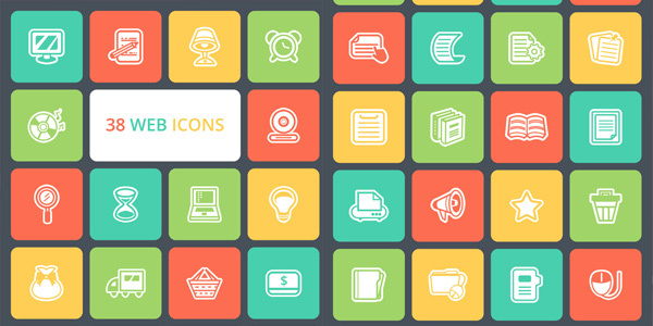 freebie-38-flat-web-icons-pack