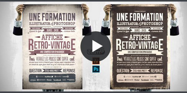 Creer-une-affiche-retro-vintage-illustrator
