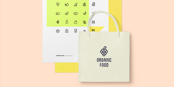 Freebie-organic-food-icon-set