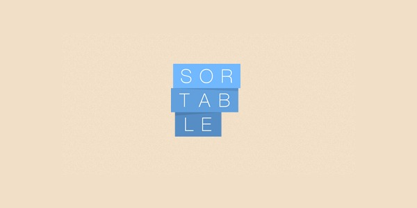 Sortable, library javascript pour drag and drop