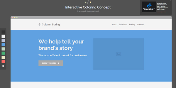 Interactive Coloring Concept