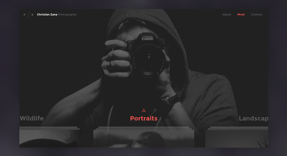 Photography Website Concept