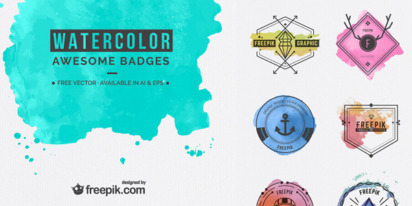 freebie-awesome-watercolor-badges