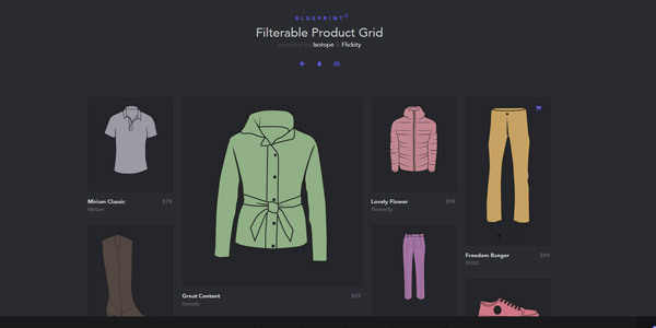 Filterable Product Grid
