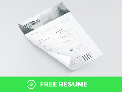 Free-Minimal-Clean-Resume-Template-PS-AI
