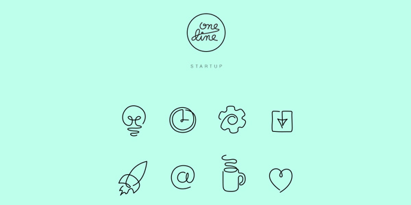 One-line-Free-Startup-icons