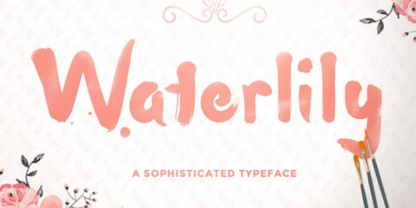 waterlily-free-handwriting-font