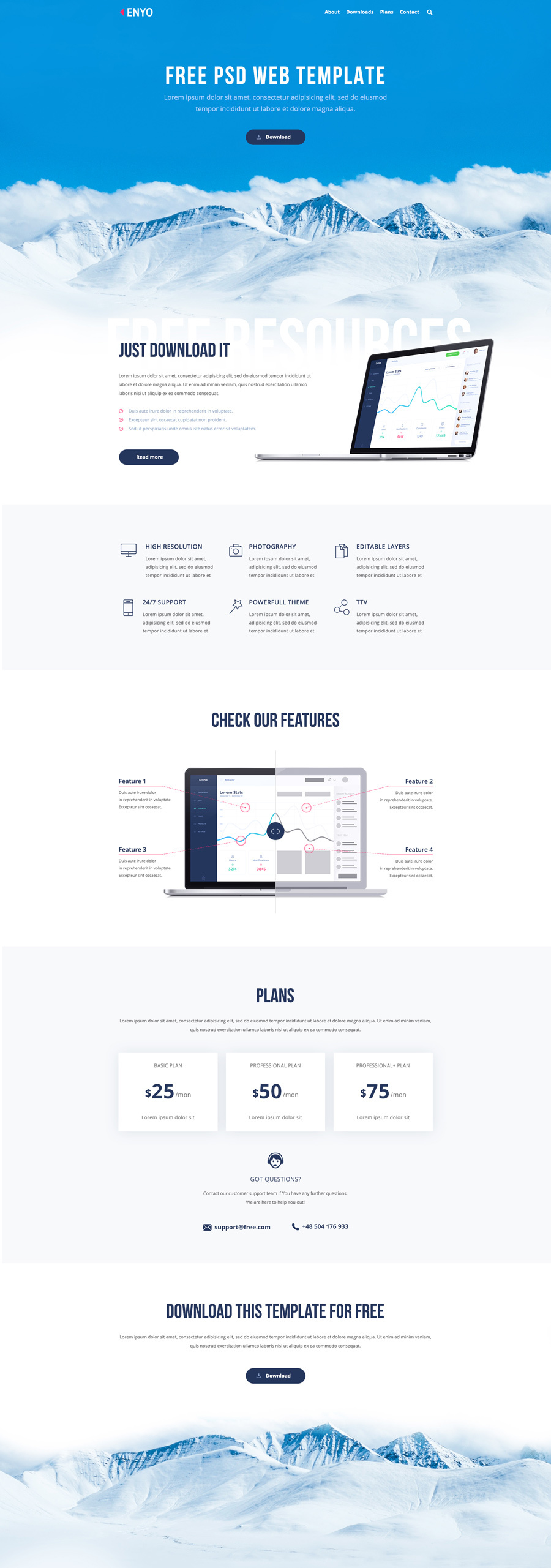 Enyo-Free-PSD-Template