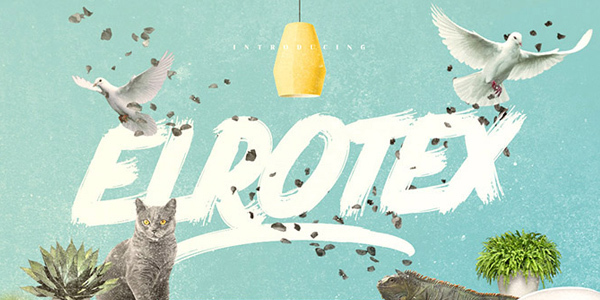 elrotex-brush-font