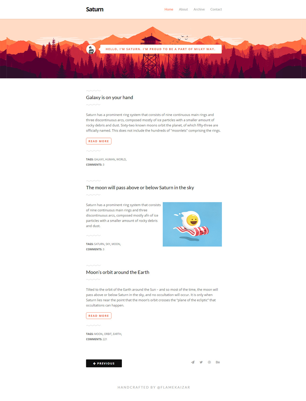 Free-PSD-HTML-Template-Saturn