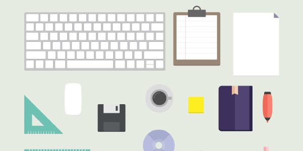 flat-desk-office-vector-download