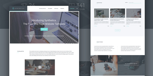 freebie-synthetica-one-page-website-template