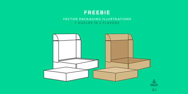 Freebie-Packaging-Illustrations