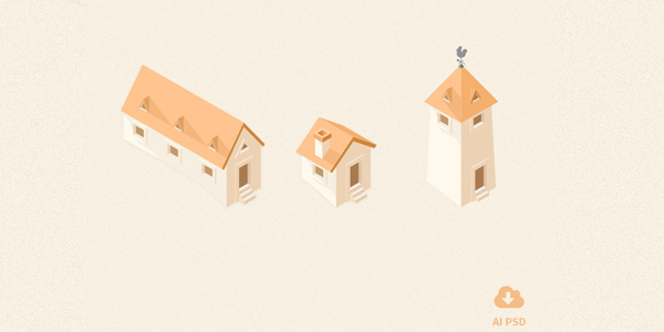 Free-Little-Buildings-Icons-vol-1