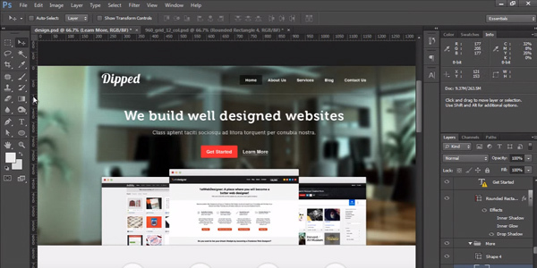 How To Create a Website Layout With Photoshop From Wireframe