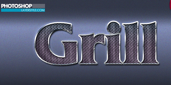 free-photoshop-metallic-grill-style