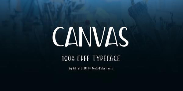 canvas-free-condensed-font