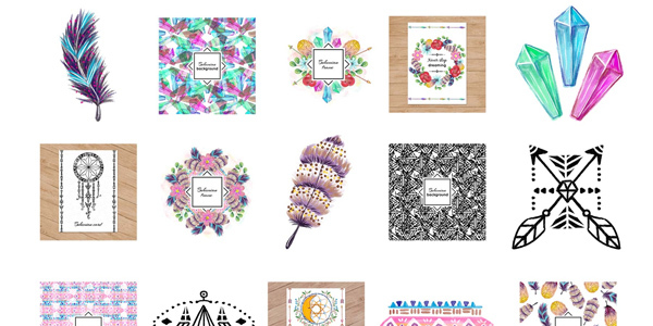 free-download-watercolor-bohemian-elements-and-illustrations