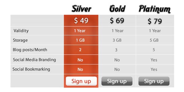 http://sixrevisions.com/web-applications/designing-pricing-plans-for-subscription-based-web-apps/