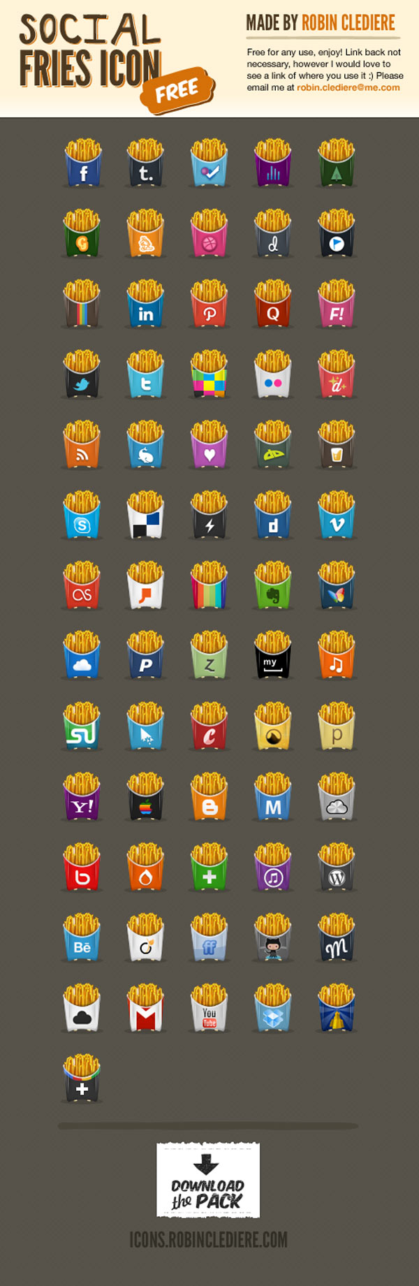 Fries social icons robinclediere