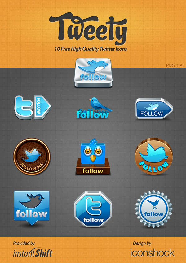 free-high-quality-twitter-icon-set