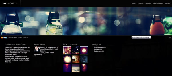template wordpress artboard