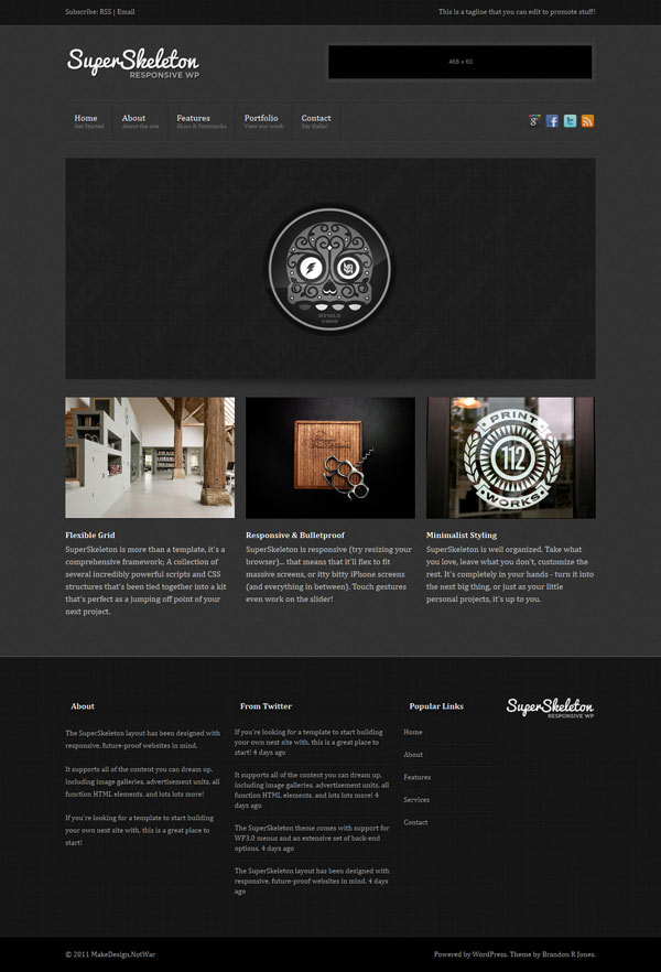 Theme wordpress responsive super skeleton