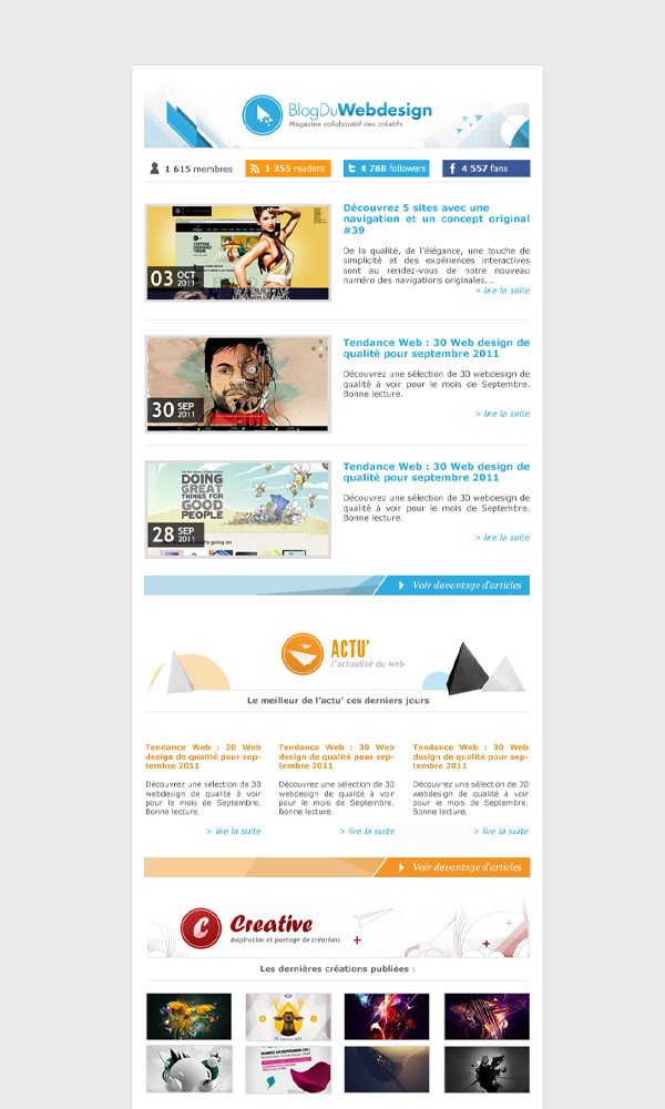 Célèbre Inspiration & Ressources : 15 Newsletters originales | BlogDuWebdesign KF33