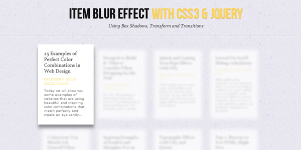 http://tympanus.net/codrops/2011/12/14/item-blur-effect-with-css3-and-jquery/