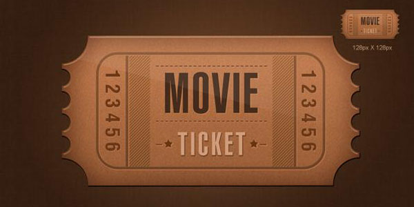 ticket icon psd