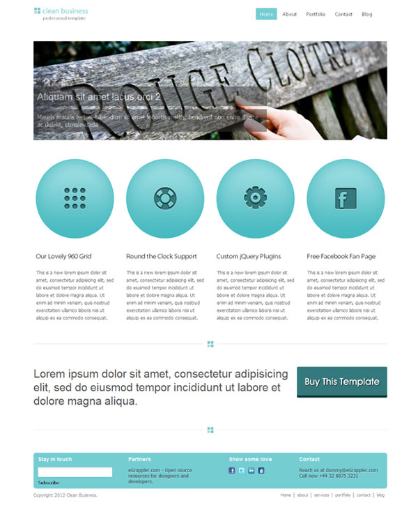 template CSS HTML