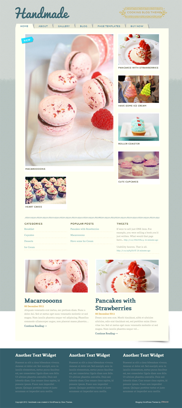 handmade WordPress