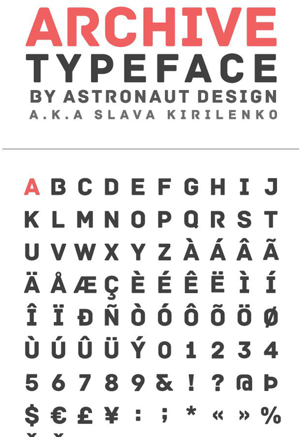 archive-free-font