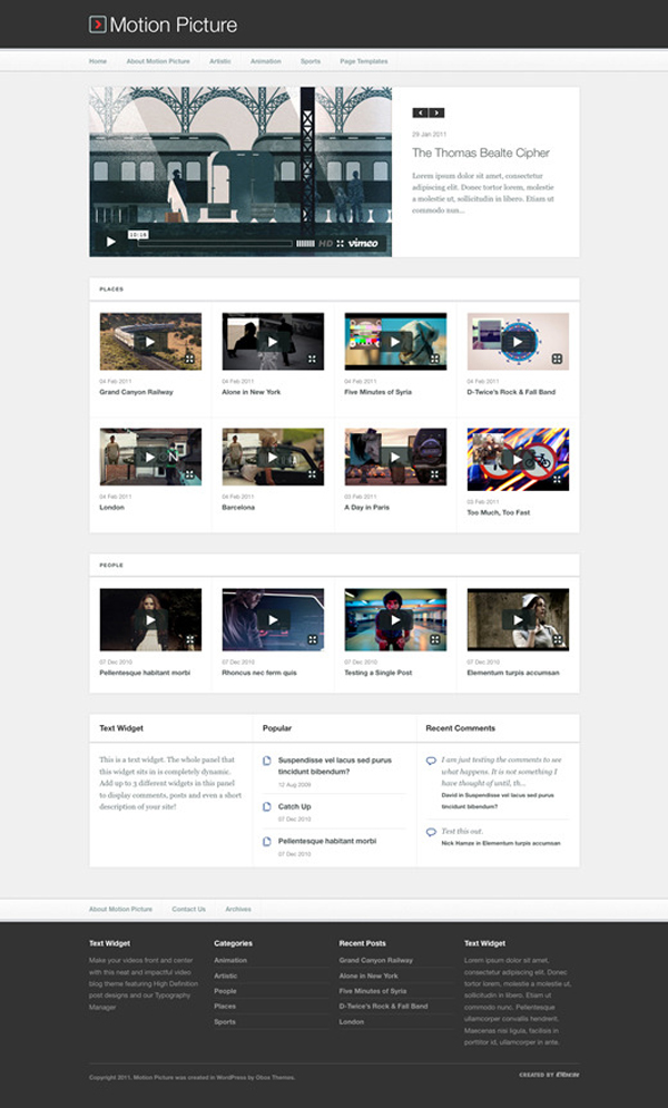 Motion Pic WordPress Template