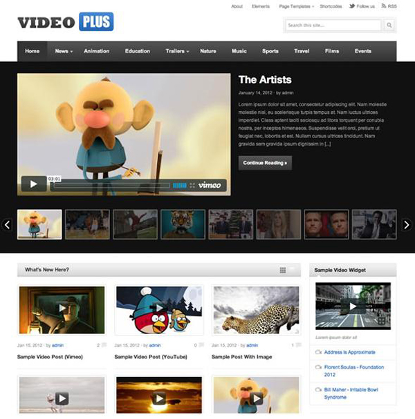 Videoplus wordpress