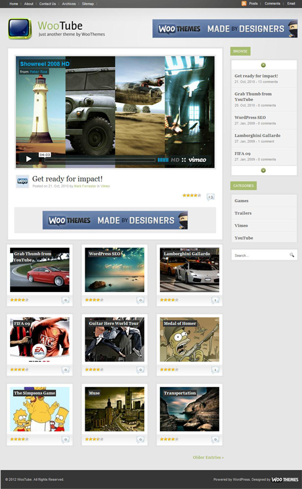 Wootube Template Wordpress