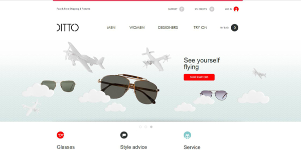 webdesign tendance aout ditto