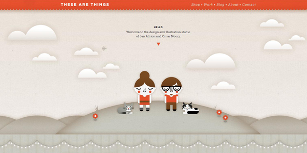 webdesign tendance aout thesearethings
