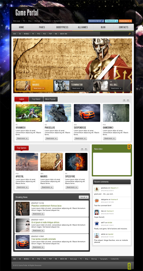 game-portal-wordpress-buddypress-theme